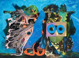 Eileen Agar, An Exceptional Occurrence, 1950, oil on canvas on board. © The Estate of Eileen Agar. All Rights Reserved 2016/ Bridgeman Images.